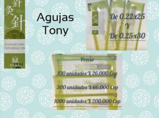 AGUJAS PARA ACUPUNTURA TONY